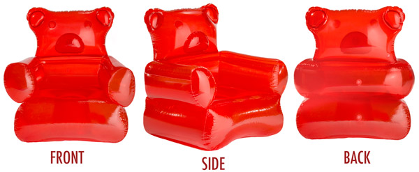 inflatable chair canada overstuffed arm covers gummy bear candy shaped furniture