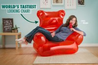 Gummy Bear Chair: Candy-shaped Inflatable Furniture
