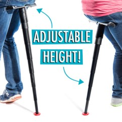 Height Adjustable Chair Office Upper Back Pain Sitpack: World's Most Compact Foldable Seat.