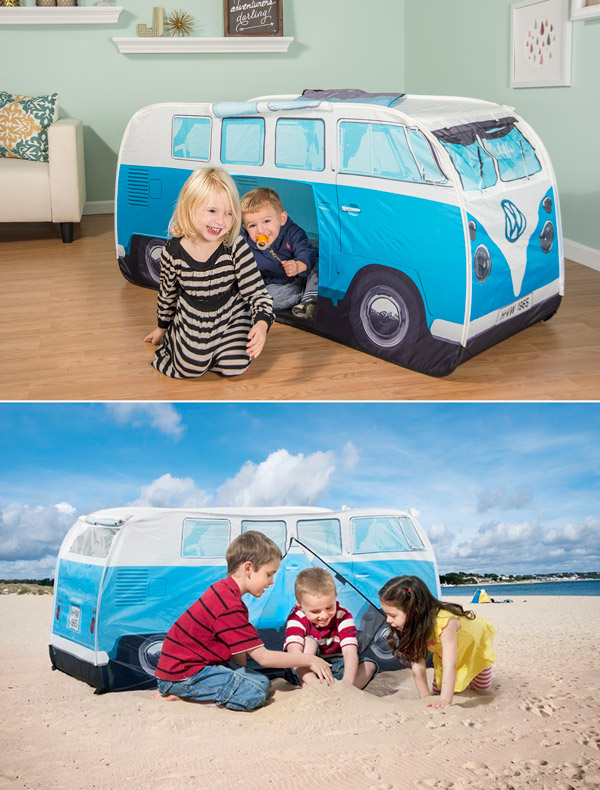portable beach chair futon vw pop-up play tent: fun indoor/outdoor tent in the style of iconic 60s van