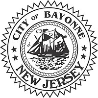 Bayonne (New Jersey), seal (black & white)