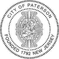 Paterson (New Jersey), seal (black & white)