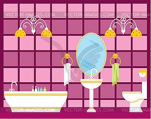 Bathroom Royalty Free Vector Clipart