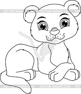 Panther Cub Malvorlagen Vektor Clip Art