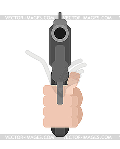 automatic gun and hand