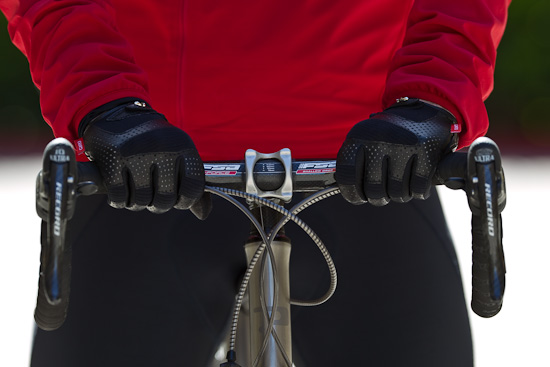 The Red Giro tabs go rather nicely with my Rapha Lightweight Softshell Jacket