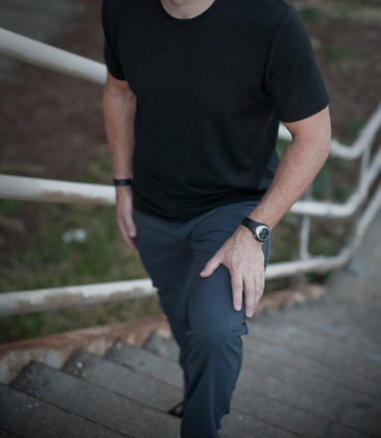 Outlier Workwear pants and Empire Merino Tee