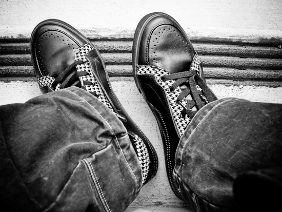Houndstooth shoes from Ben Sherman
