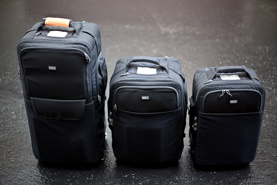 ThinkTanks Logistic Manager, Airport Security v2 and Airport international v2 roller bags