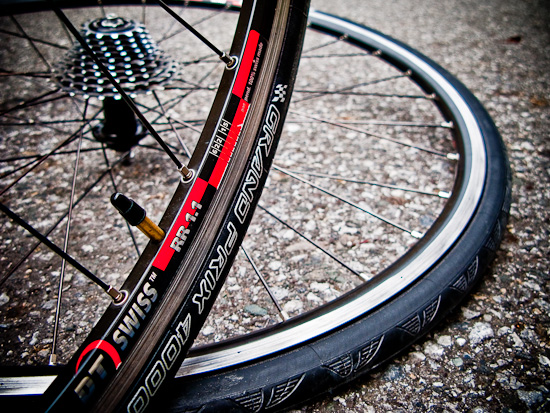 New Continental GP4000S tires on DT Swiss RR 1.1 rims