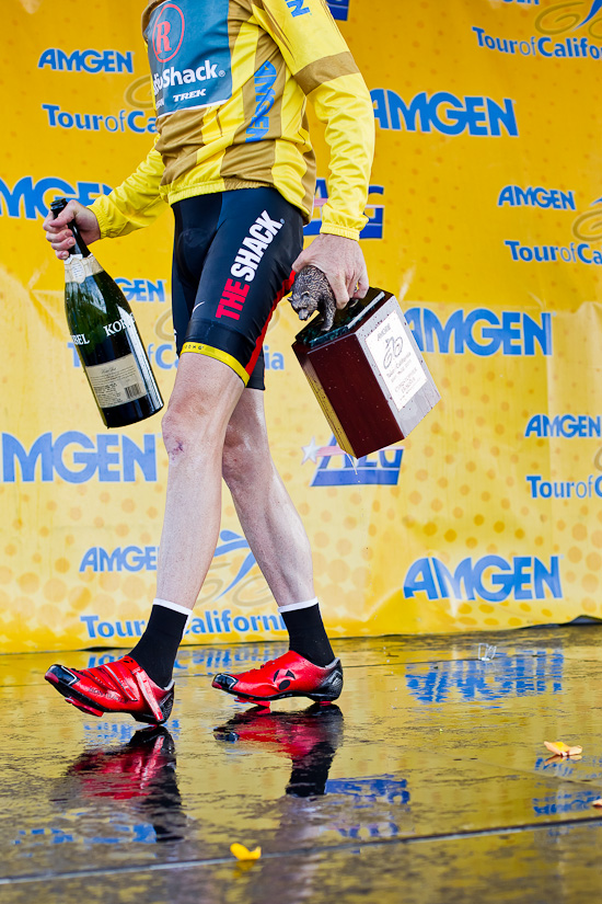 Champagne, Trophy and the red shoes
