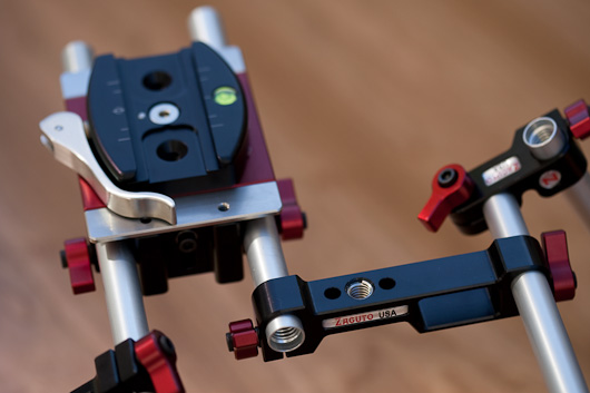 Really Right Stuff Quick Release mated to Zacuto base plate