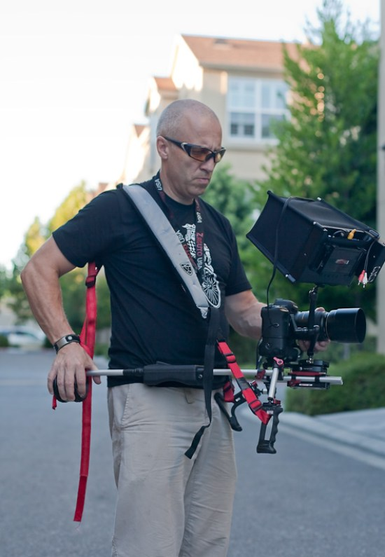 Using the Zacuto Marksman at waist level with the SmallHD DP1