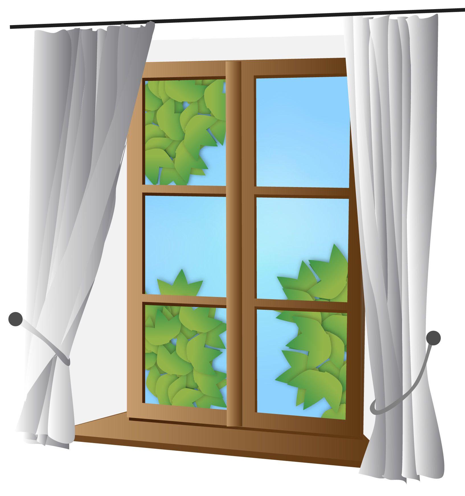 Ventana cerrada con la cortina  Descargar vector