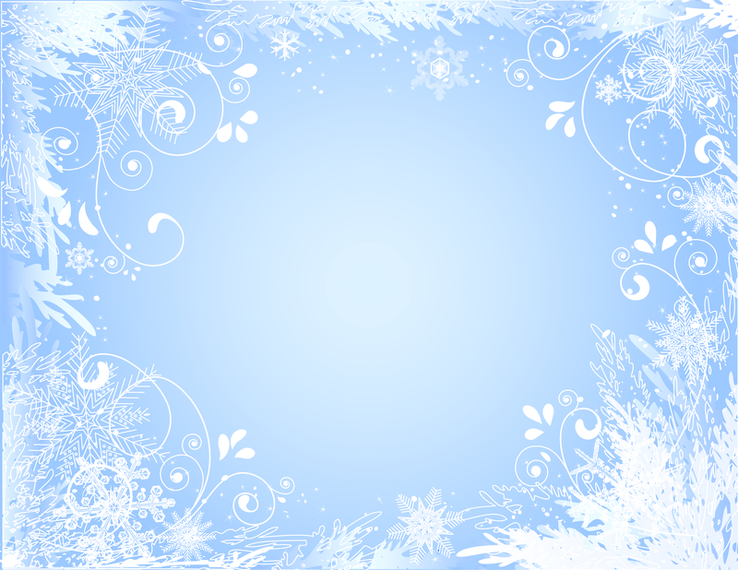 Beautiful Snowflake Photo Frame Vector Vector Download