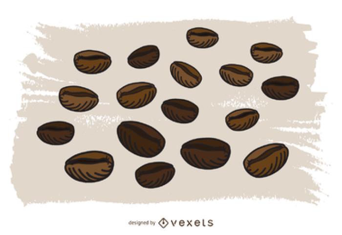 Vectores Y Gráficos De Granos De Cafe