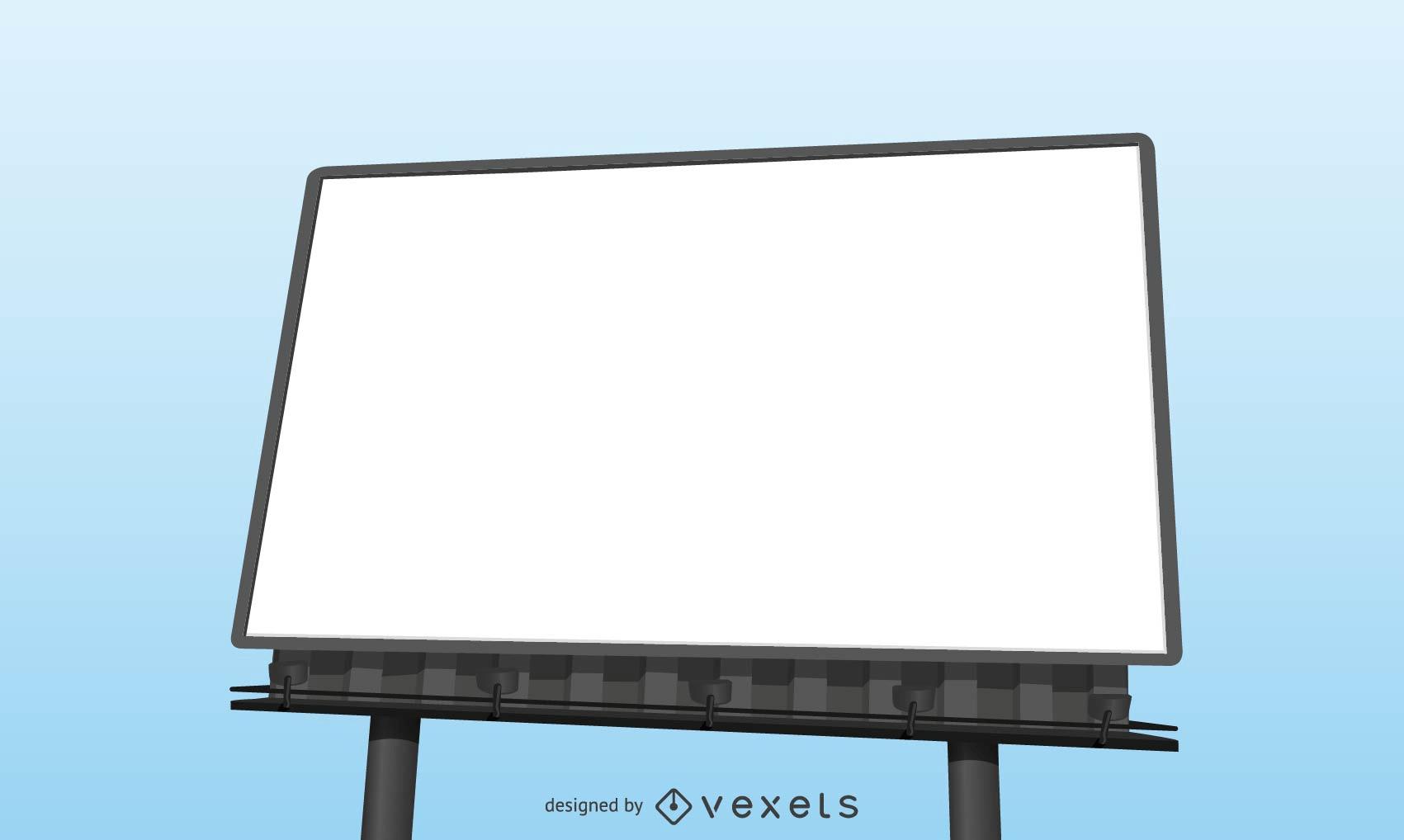 Realistic Blank Billboard Template