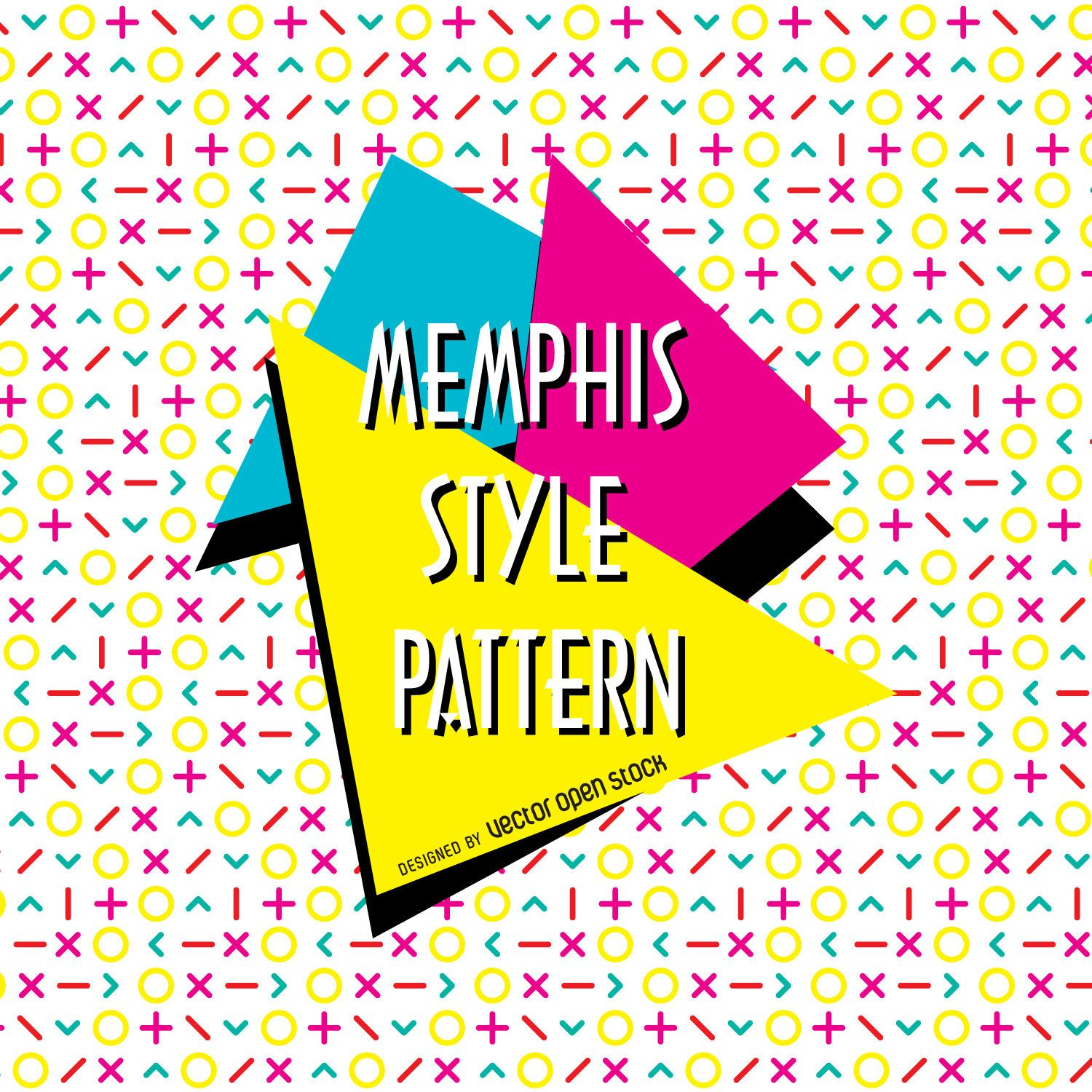 Cute Designs For Wallpapers Arrows Bright Memphis Design Pattern Vector Download