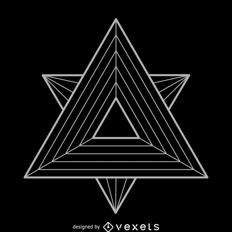 Triangles Sacred Geometry Illustration