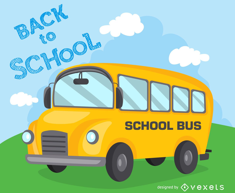 Back To School Illustration Bus