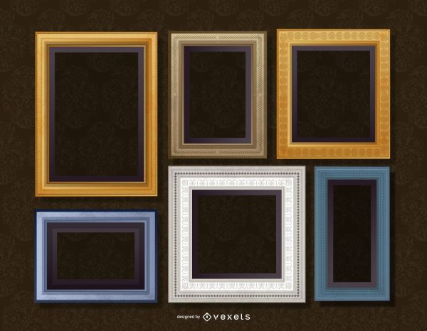 Realistic Wall Frame Set - Vector