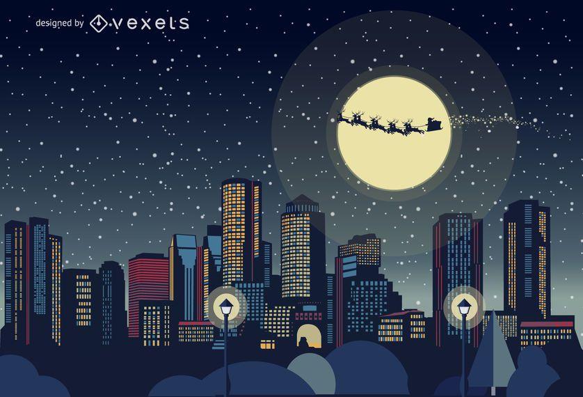 Animated Wallpaper Maker Online Boston Christmas Skyline Vector Download