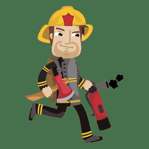 busy fireman cartoon transparent