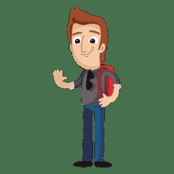 Male student cartoon Transparent PNG & SVG vector file