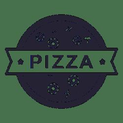Pizza food restaurant logo Transparent PNG & SVG vector file