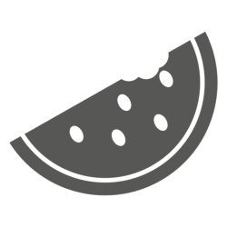 watermelon pizza icon half svg sliced transparent vector background minimalist pattern maker vexels