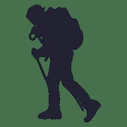 hiking silhouette adventure clipart mountaineer hicking hiker keren outdoor pendaki svg clip transparent vector silhouettes mountain vexels climbing getdrawings mountaineering