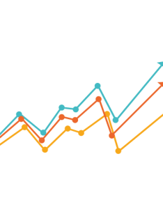 Increasing multicolor line chart also transparent  svg vector rh vexels