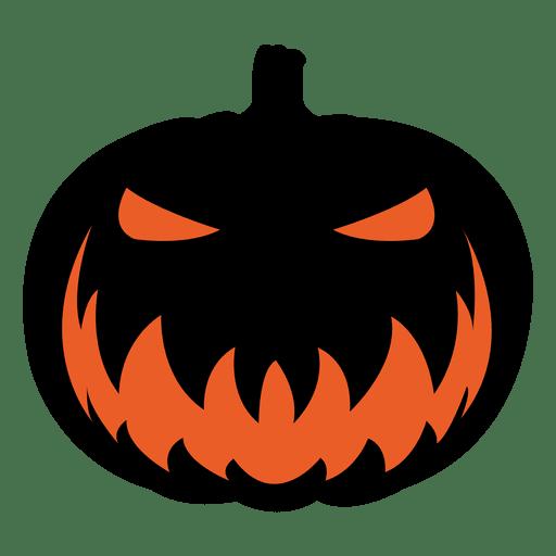 scary pumpkin face 6 - transparent