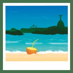 beach cartoon cocktail transparent svg palm vector tree vexels