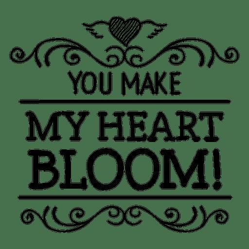 Download Bloom Heart Valentine's Label - Transparent PNG & SVG ...