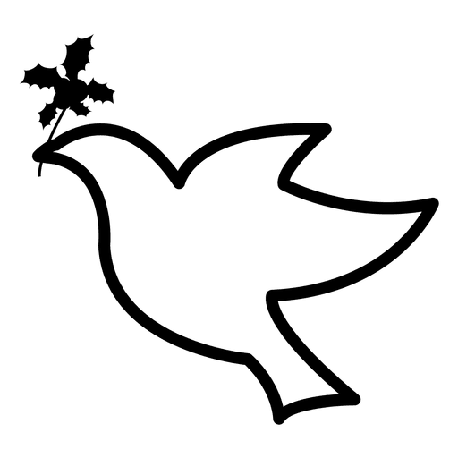Simple Dove Outline Icons