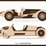 Vintage Flat Racing Cars Illustrations Vector Download