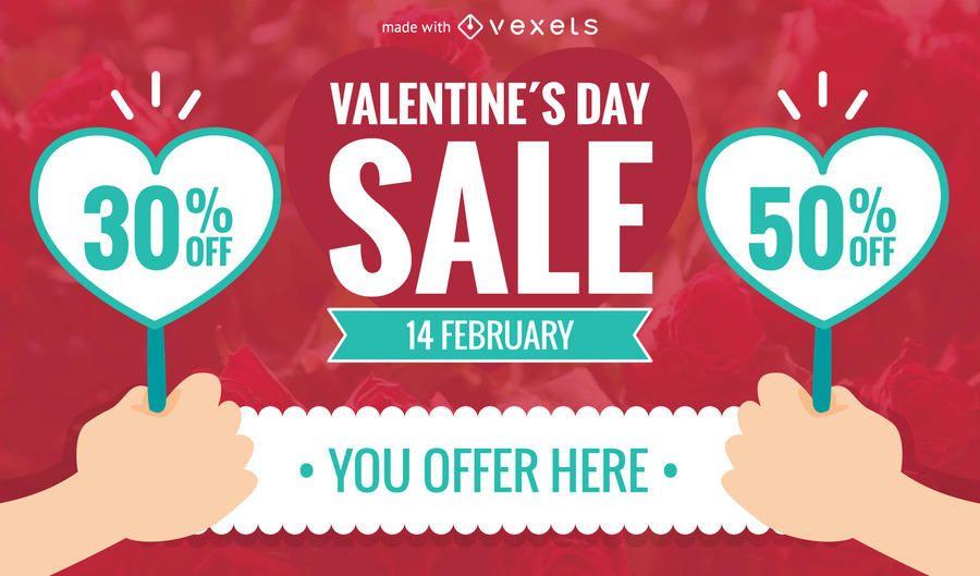 Valentines Day Sale Maker Editable Design