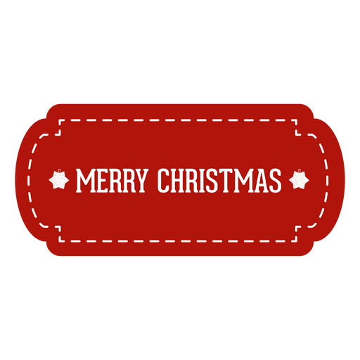 Red Christmas Tag Transparent PNG & SVG Vector