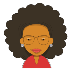 curly hair teacher woman cartoon transparent head vector svg wade icon vexels tereni shirt isolated file