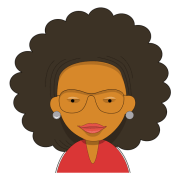 curly hair woman teacher - transparent