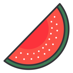 watermelon icon transparent svg cartoon background icons colors vector playground circus pngs logos vectors vexels