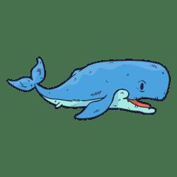 Whale fish cartoon Transparent PNG & SVG vector file