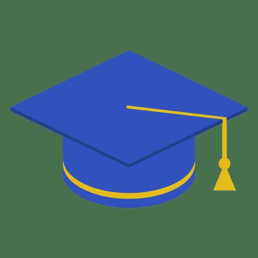 graduation cap blue transparent