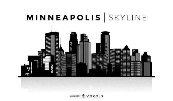 Minneapolis silhouette skyline Vector download