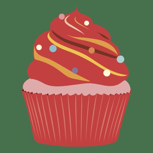 Red Velvet Cupcake Illustration Transparent Png Svg Vector