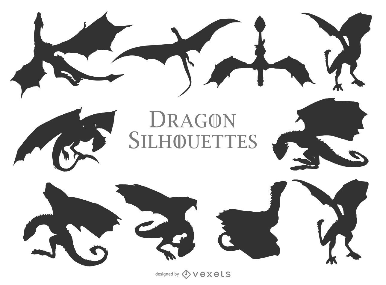 Dragon Silhouettes Collection