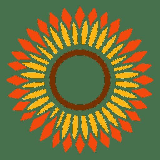flat sunflower head vector
