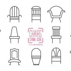 Chair Design Icons Shower Chairs For Elderly Set Of Stroke Vector Download Image User