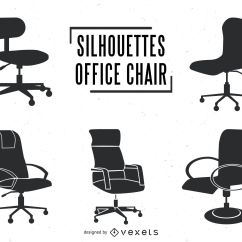 Office Chair Illustration Painted Wood Table And Chairs Silhouettes Set Vector Download